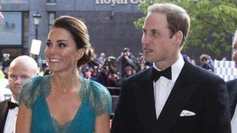 The Duke and Duchess of Cambridge arrive at the Royal Albert Hall for the Team GB gala evening.