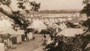 Basque children&#039;s temporary camp