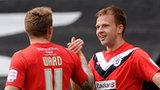 Jordan Rhodes celebrates scoring for Huddersfield