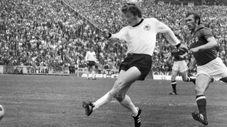 Herbert Wimmer scores for West Germany