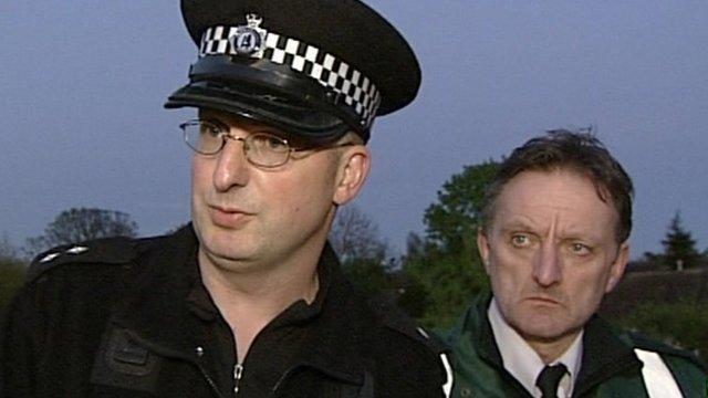 Warwickshire Police's Insp Adrian Davis and Jerry Penn-Ashman of Warwickshire Ambulance Service
