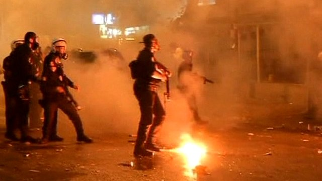 Police and fans clash in Turkey