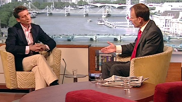 Lord Coe and Andrew Marr