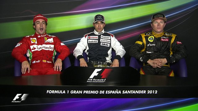 Spanish GP - Top three drivers