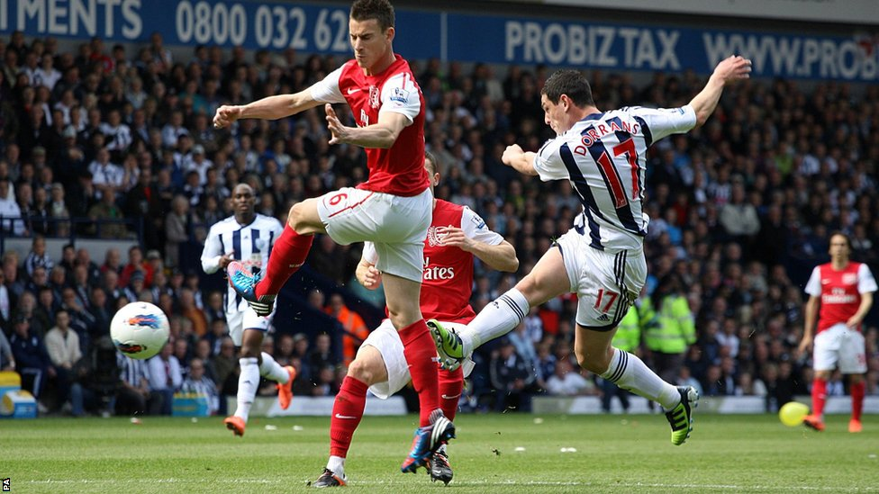 Graham Dorrans scores for West Brom