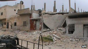 The city of Rastan has seen fierce fighting in recent weeks, despite a nominal UN-backed truce
