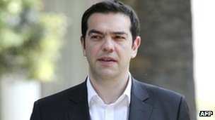 Alexis Tsipras in Athens on May 13, 2012