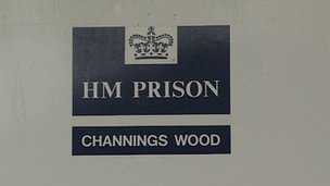HMP Channings Wood sign
