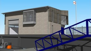 Impression of the new lifeboat station