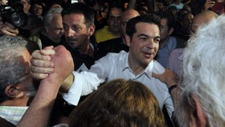 Alexis Tsipras meets supporters