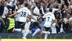 Tottenham players celebrate