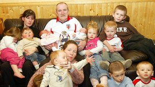 Mick Philpott and his family in 2007