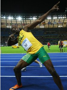 Usain Bolt. Photo: ALLSPORT/Getty Images