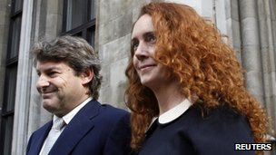 Rebekah Brooks - shown here with her husband Charlie - appeared at the Leveson Inquiry on Friday