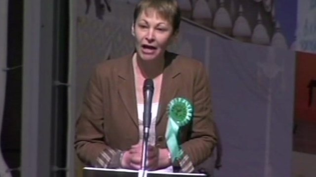 Caroline Lucas in Brighton
