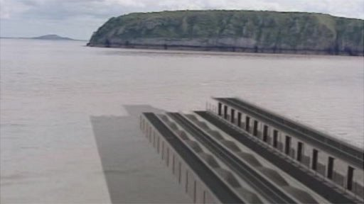 Artist impression of one Severn barrage model