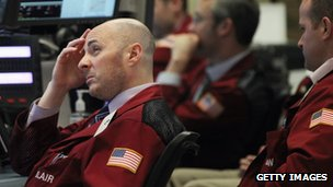 Traders on the New York Stock Exchange on Monday