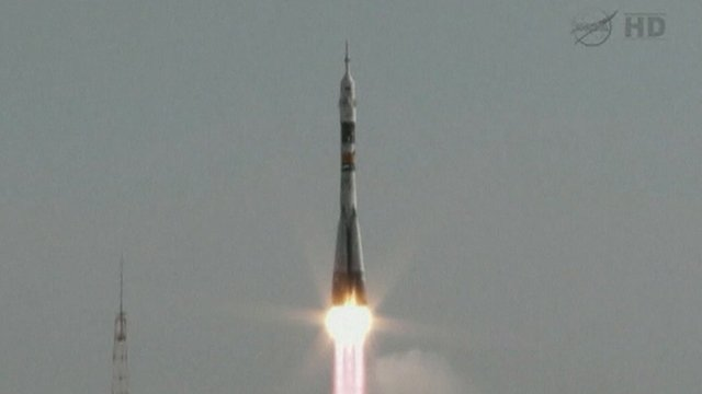 Soyuz rocket launching