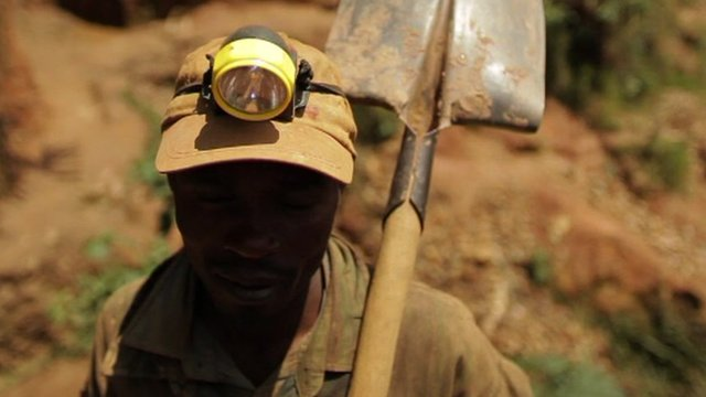 Tin miner, DR Congo