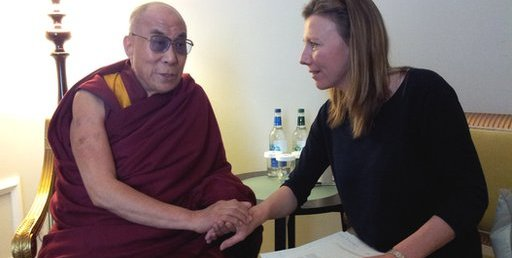 The Dalai Lama with Today presenter Sarah Montague