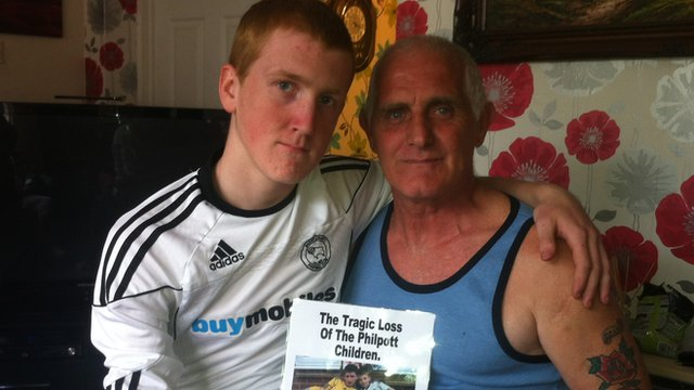 Mikey Philpott and his godfather Andrew Allsop