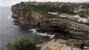 The sandstone cliff known as The Gap lies in a suburb of eastern Sydney
