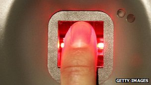 finger on pad
