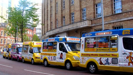 Ice cream vans protest in Belfast 