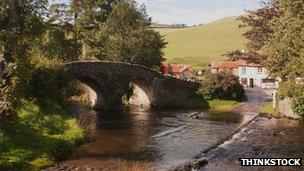 Malmsmead in Exmoor