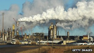 Oil refinery in Canada