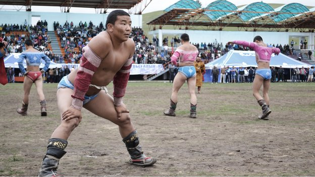 Mongolian wrestlers