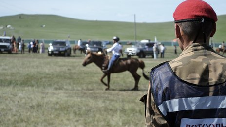 Horse riders at the Naadam are young and usually from nomadic families