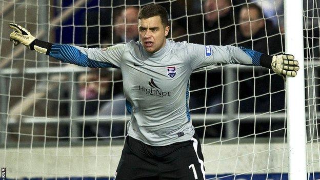 Ross County goalkeeper Michael Fraser