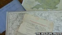 Maps and questionnaires from Charles Rothschild's archives