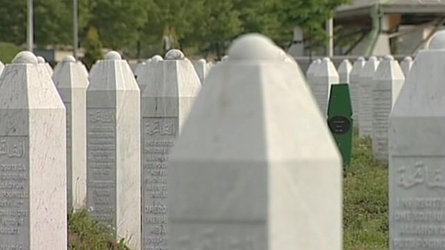 Graveyard for people murdered in the Srebrenica massacre