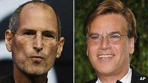 Steve Jobs and Aaron Sorkin