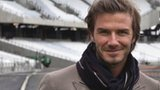 David Beckham in the Olympic Stadium, Stratford