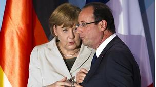 Francois Hollande and Angela Merkel (15/05/12)