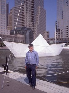George Wyllie with the Paper Boat in New York