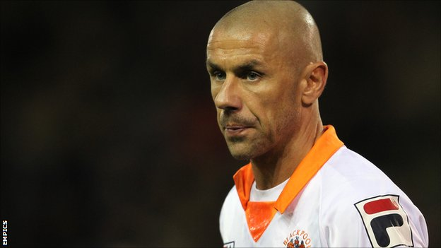 Blackpool striker Kevin Phillips