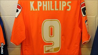 Kevin Phillips&#039; Blackpool shirt