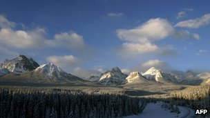 View of Canadian Rockies