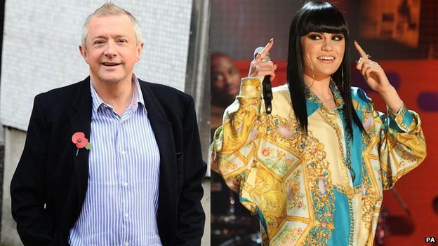 Louis Walsh and Jessie J