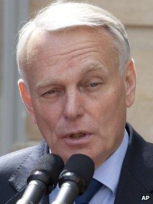 Jean-Marc Ayrault at the Matignon Palace in Paris, 16 May