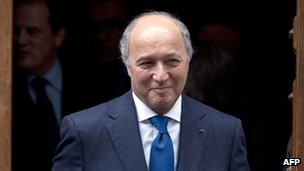 Laurent Fabius in Paris, 9 May
