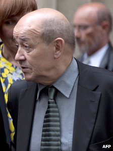 Jean-Yves Le Drian in Paris, 9 May