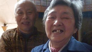 Mr Zhang (L) and Mrs Zhang (R)
