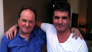 James Naughtie and Simon Cowell