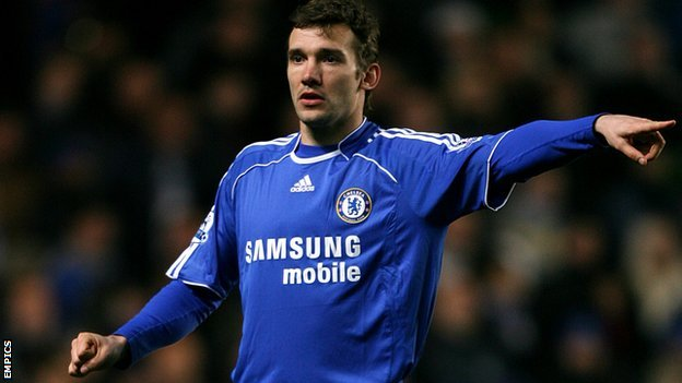 Andriy Shevchenko in his Chelsea days