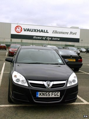 Vauxhall factory in Ellesmere Port